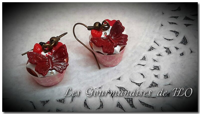 Boucles papillons chantilly Magali
