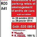 Parking relais p+r