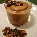 Mousse au nutella et ses croquants de fruits secs