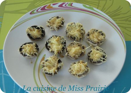 Champignons farcis jambon-gruyère