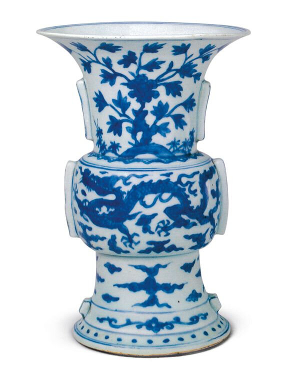 A blue and white zun, Jiajing mark and period (1522-1566), Collection of Palace Museum, Beijing
