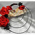 Bouquet de mariée rond rouge et noir