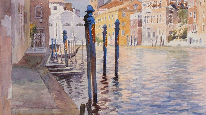 Detail of 'Venetian Canal' (around 1926), A B Waller