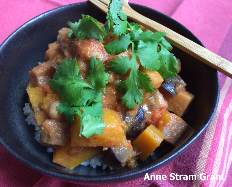 Curry butternut aubergine