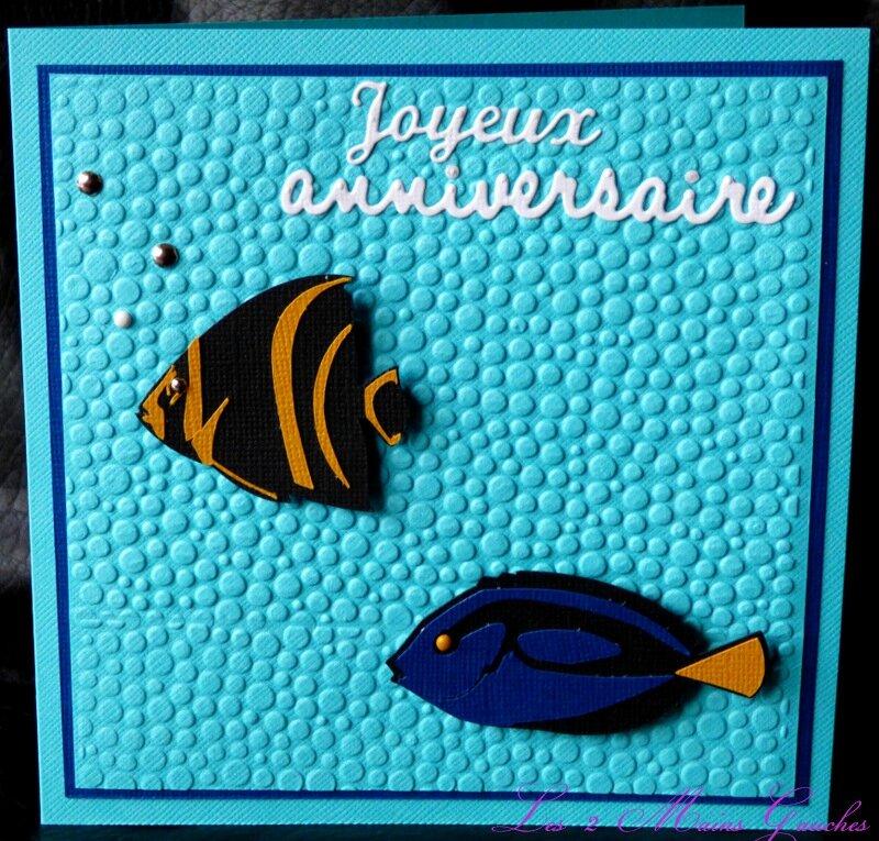 carte d'anniversaire comme un aquarium exotique
