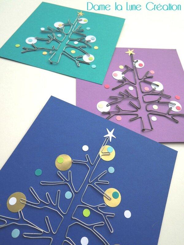 Noël_bonnes fêtes année_sapin_fil de fer_2015_cartes de voeux