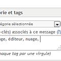 Comment ajouter un tag à un message ?
