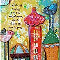 De l'art journal encore... version fun et fantaisiste ! / a whimsical spread in my art journal