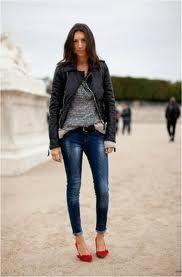 Géraldine - rouge et jean