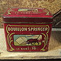 Ancienne boite publicitaire bouillon springer