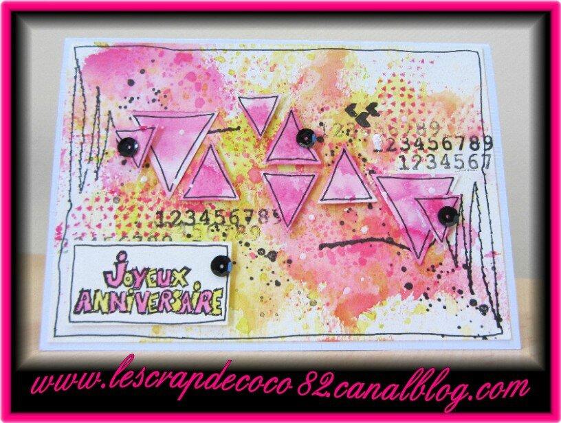 Carte Joyeux Anniversaire Pour Sandra Le Scrap De Coco82
