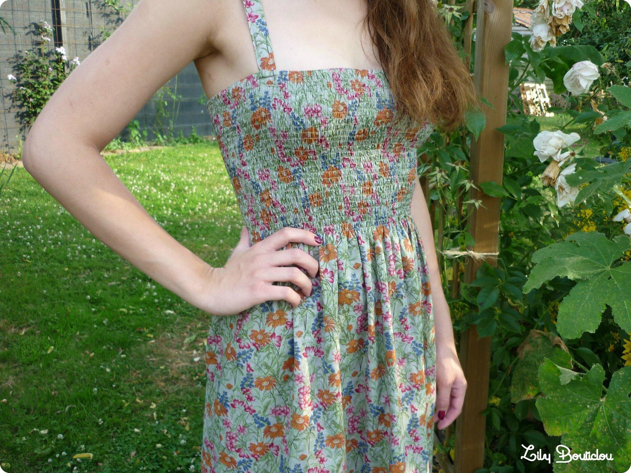diy couture robe été smocks elastiques summer dress lilybouticlou