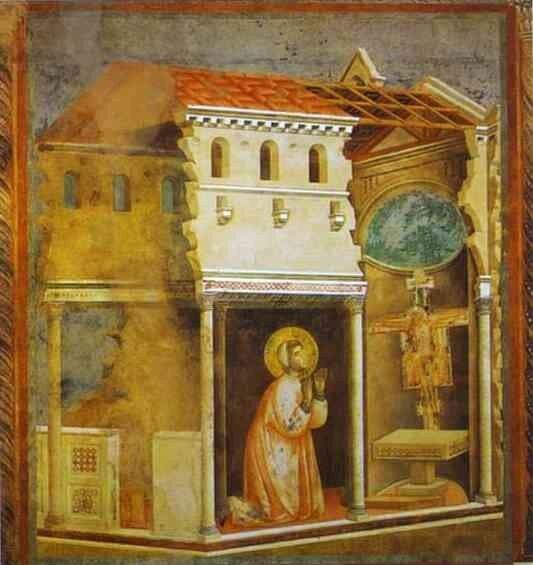 Saint François en prière devant le crucifix de Saint Damien