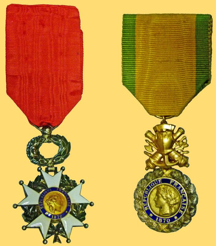 Médailles Légion d'honneur & Militaire R