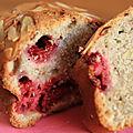 Cake framboises/mascarpone/amandes