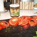 Tarte fine à la tomate, au chorizo et basilic façon cyril lignac