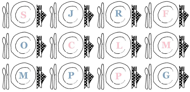 assiette et couverts pour le repas supper