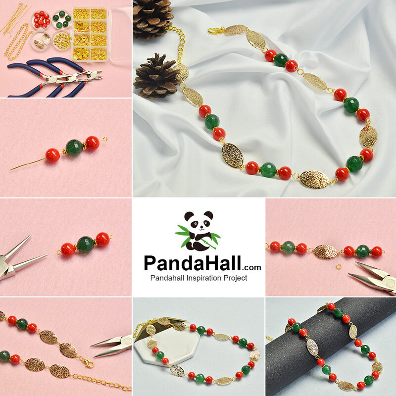 1080-PandaHall-tutorials-on-Christmas-Necklace-with-Cute-Beads