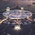 Spaceport city : concept de plaque tournante du transport qui envisage les voyages commerciaux dans l'espace au japon.