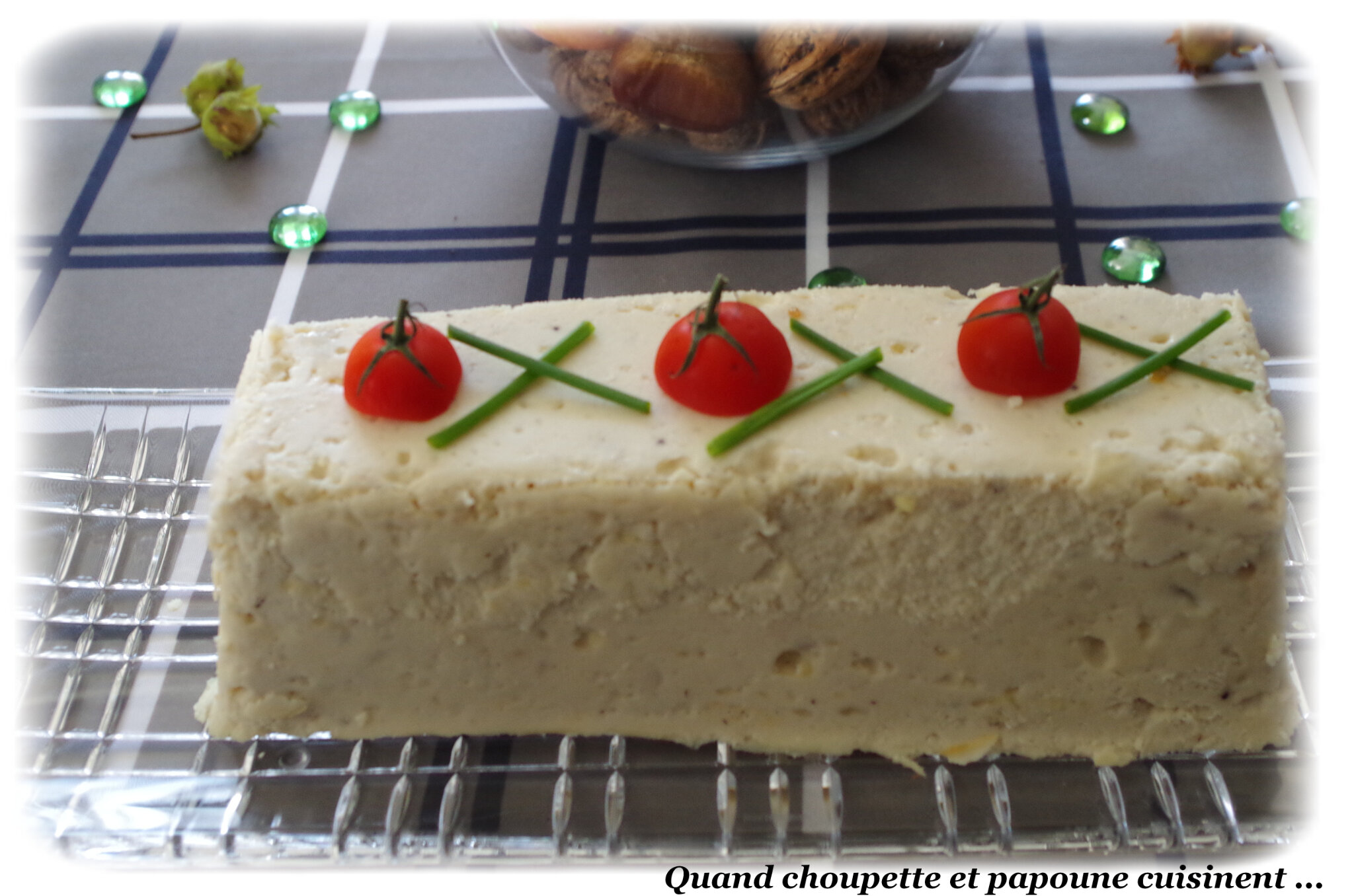 TERRINE DE POISSON, MOUSSE DE CIBOULETTE