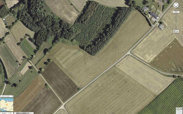 22330 Plessala entre Le Mesnil et le Bos de Penhouet geoportail