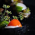 Aubergine à la flamme et tomate du jardin