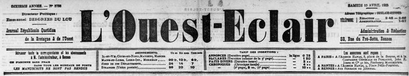 Ouest Eclair 10 avril 1909_1
