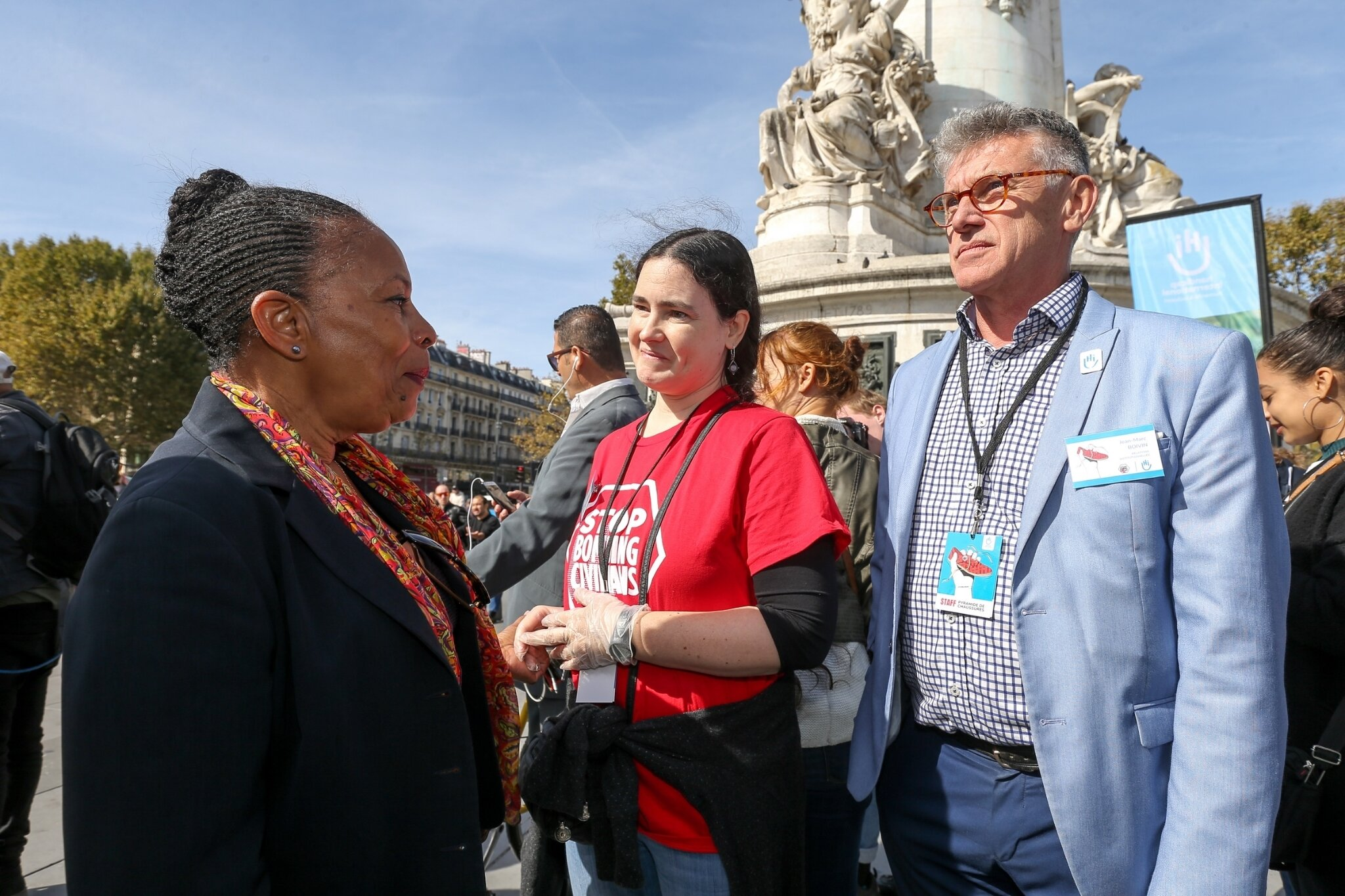 Christiane Taubira soutient Handicap International. © Michel Stoupak. Sam 29.09.2018, 12h39m48.