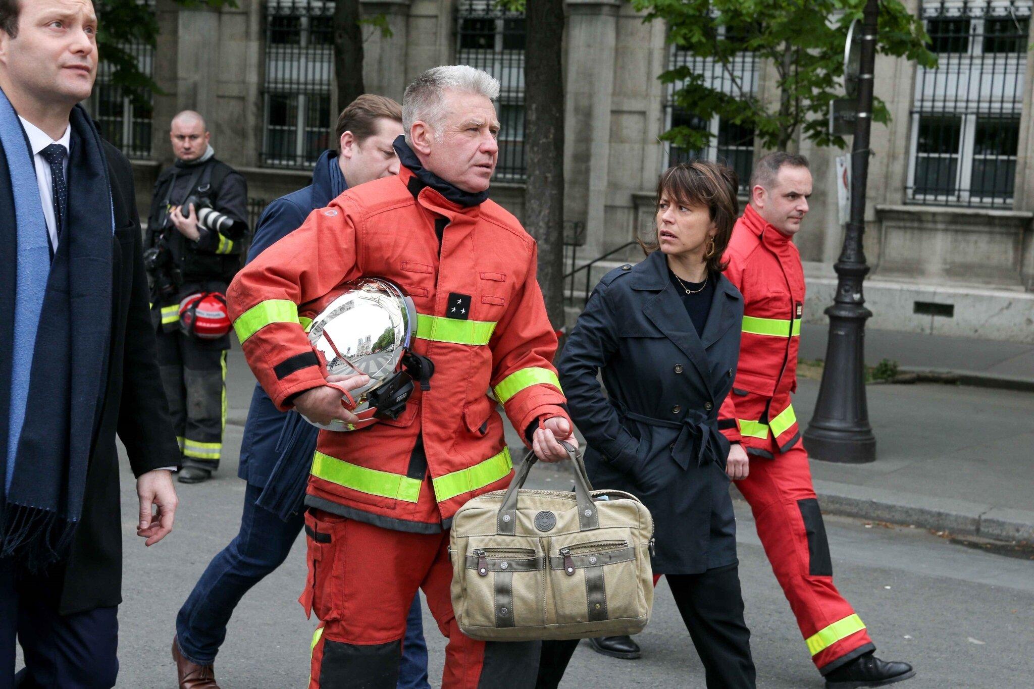 Incendie de Notre-Dame de Paris : l'émotion des personnalités. © Michel Stoupak. Mar 16.04.2019, 09h58m50.