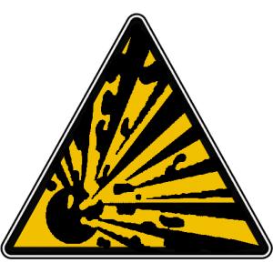 Panneau danger explosion 02