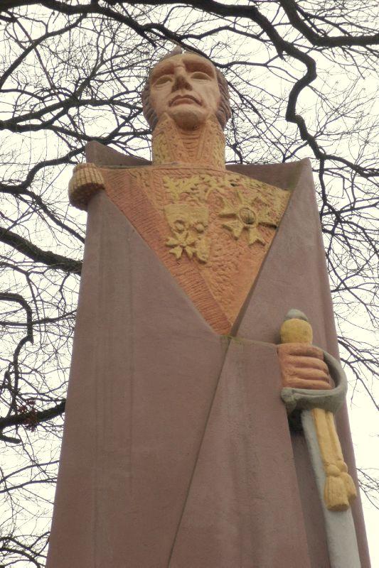 La statue de Lambert-Rucki à Sarrelouis (1946).
