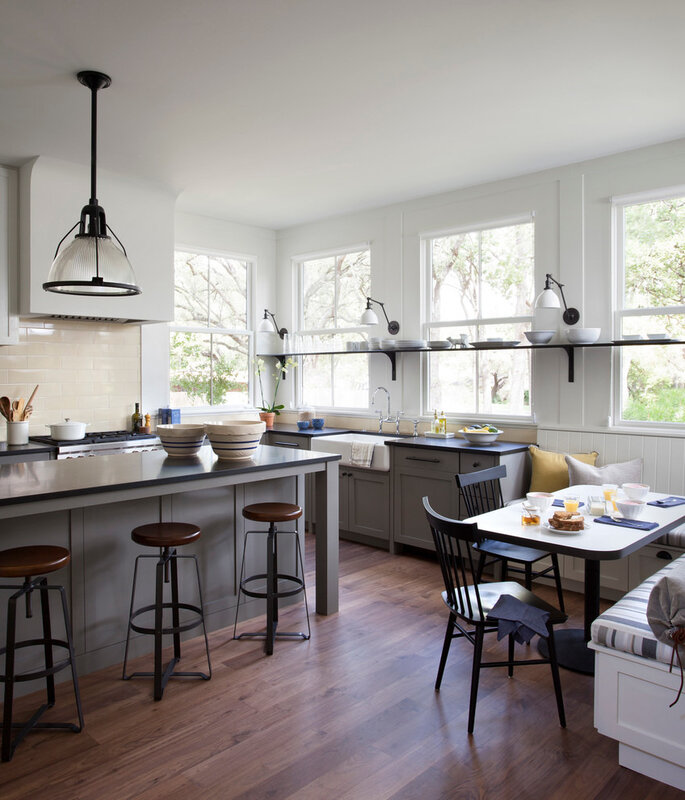 austin-Danish-Modern-with-metal-bar-height-stools-kitchen-farmhouse-and-spindle-chairs-tongue-groove-paneling