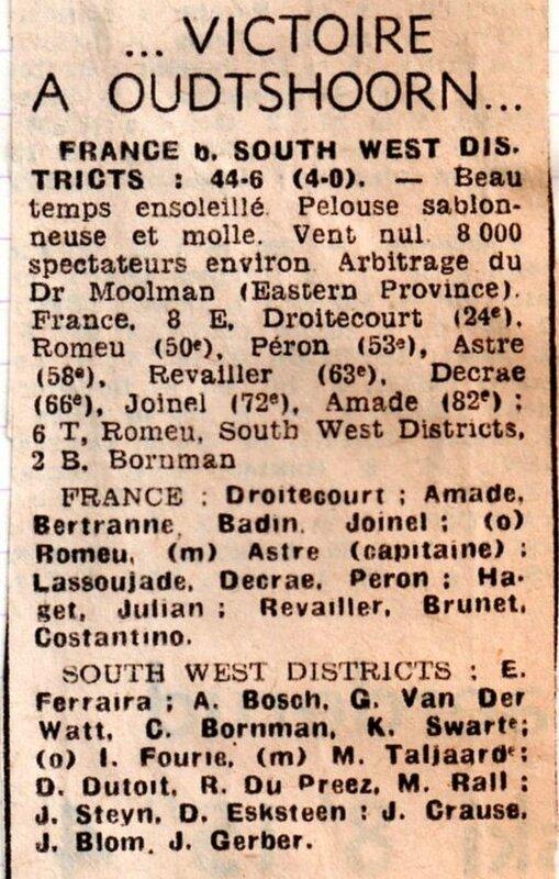 1975 - juin tournée en AFS015 - 5e match