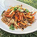 Salade d'épeautre aux carottes et fenouil rôtis
