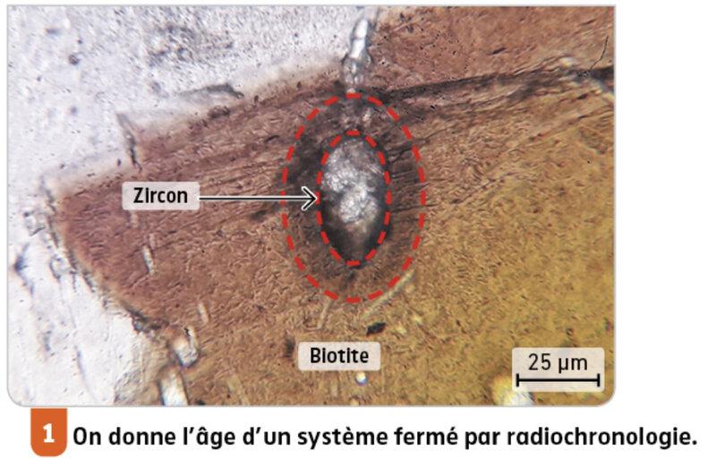 zircon dans une biotite