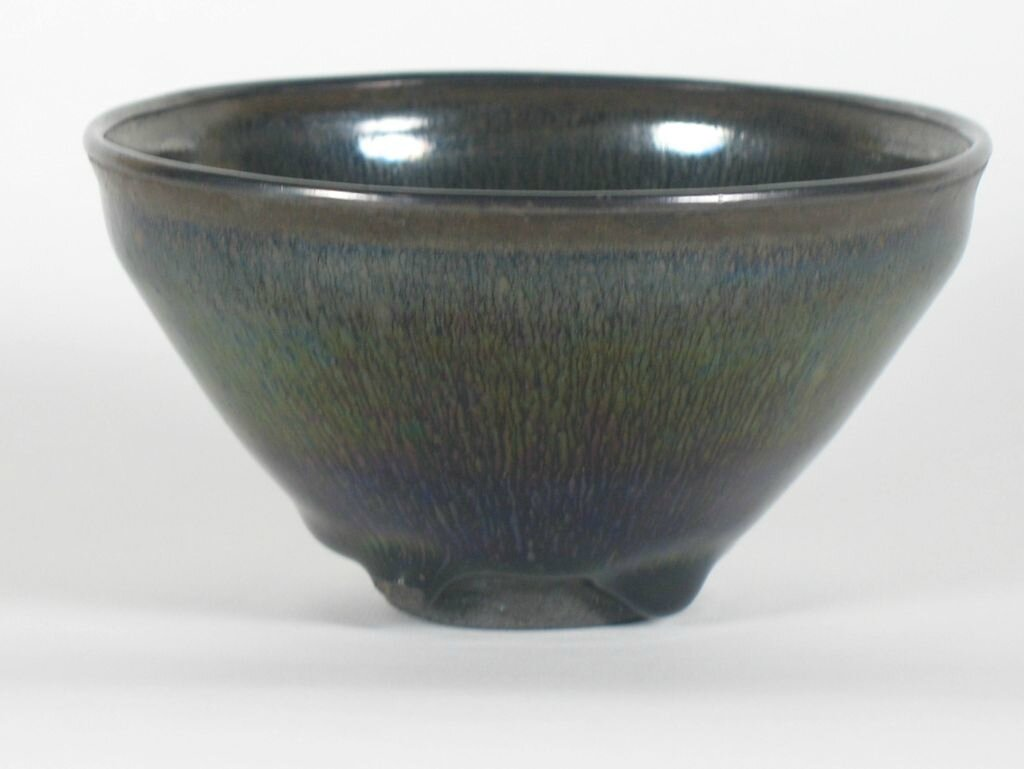Tea Bowl with Indented Lip and Silvery-Brown Hare's-Fur Markings, Song dynasty, 12th-13th century