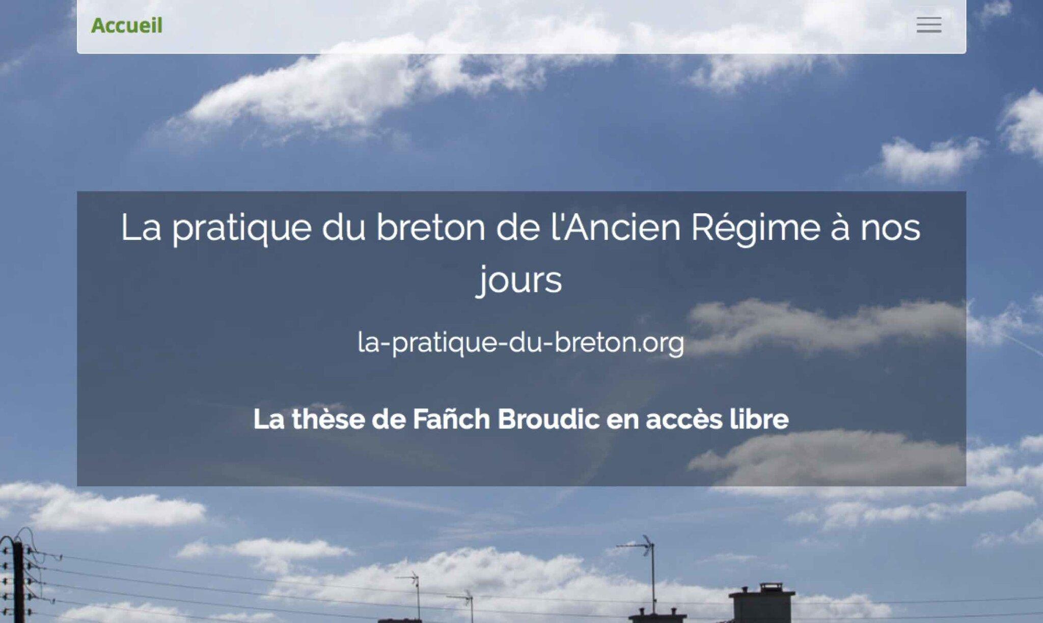 Un nouveau site internet sur la pratique sociale du breton