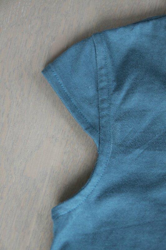 Robe babydoll Papillon et mandarine jersey France duval stalla vert canard (5)