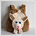 Sac à dos lapinou au crochet #tutoriel by thisa