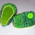Chaussons chiné vert kaki