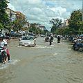 Retour avec la route inondée