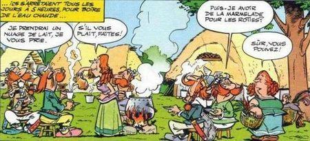 Astérix chez les Bretons dans le coffre de Gloewen et Scrat