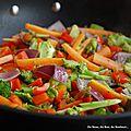Riz sauté aux légumes croquants et colorés...