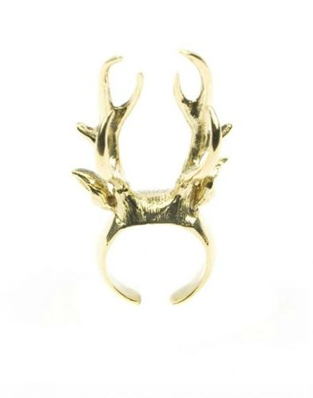 broche cerf bronze