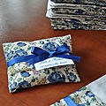 Sachet dragées liberty felicité navy blue