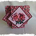 Card making dowload : une carte avec avancée fleurie et fleurs en 3d