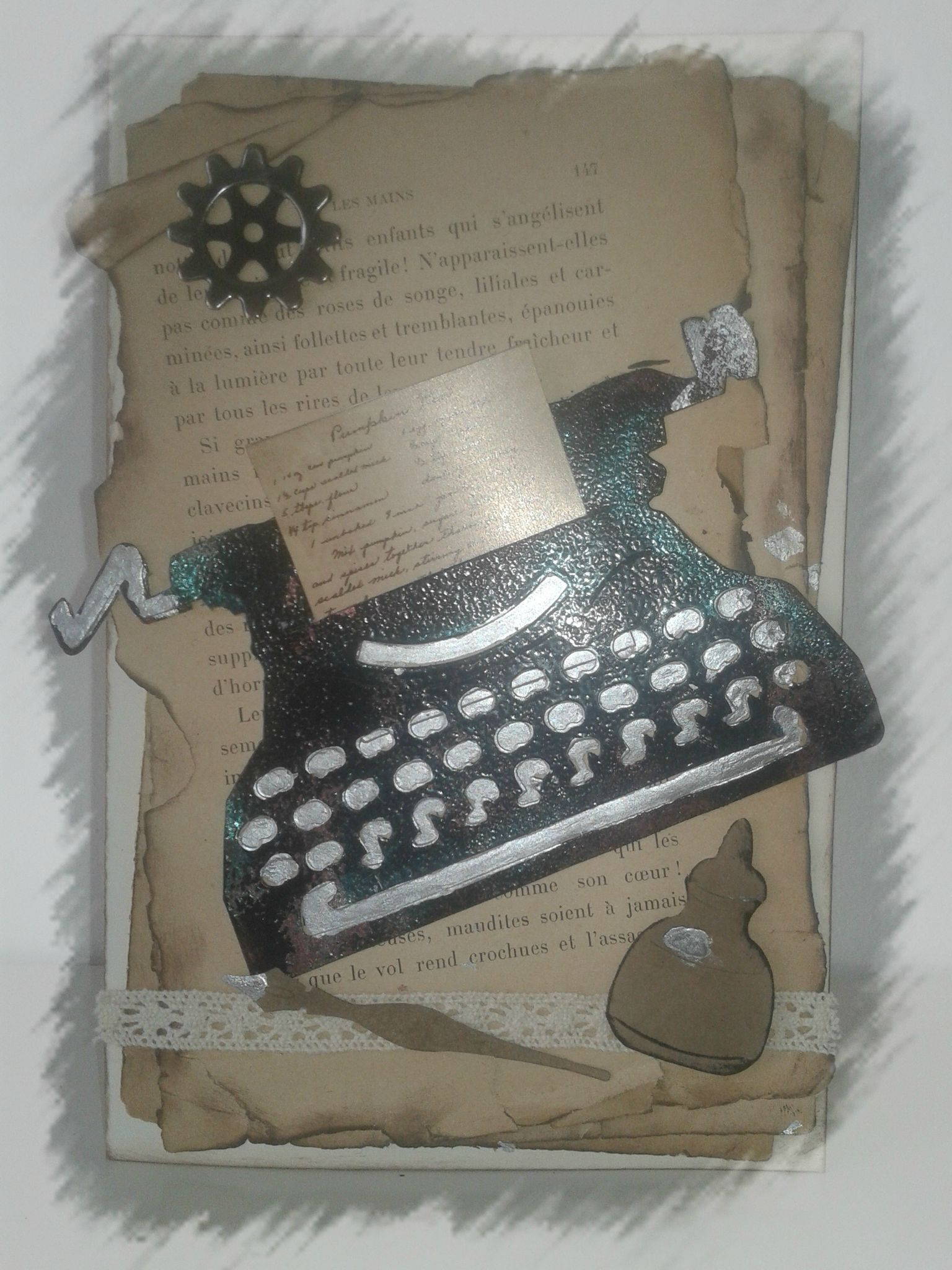 carte type writer tim holtz