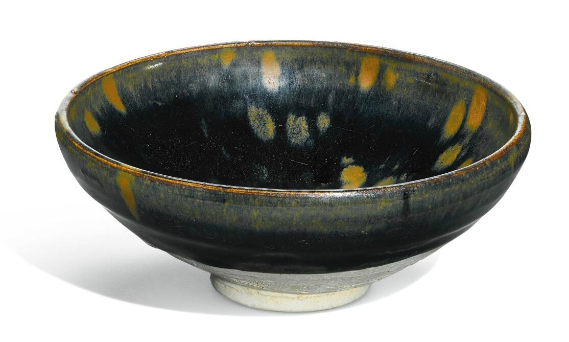 A 'Cizhou' russet-splashed black-glazed bowl, Song dynasty