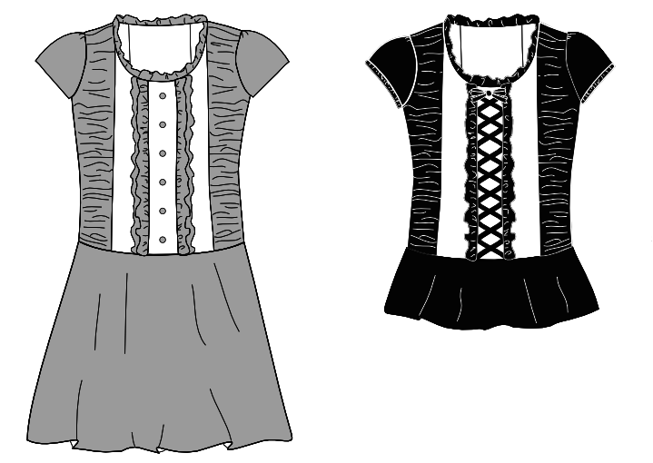 Lolita Patterns - Gunmetal