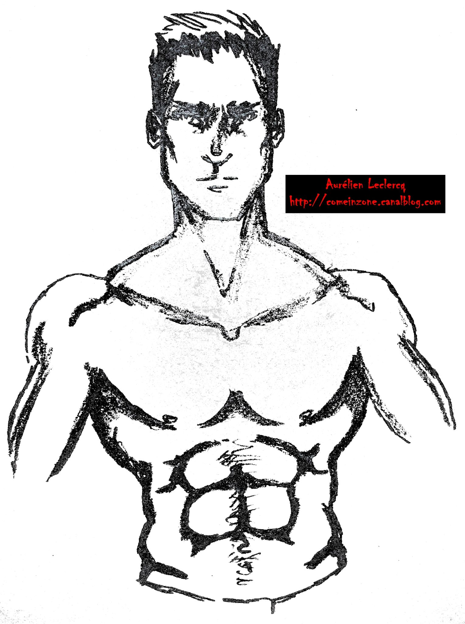 Homme Dessin anciens dessins - portrait d'homme n°2 - come in zone